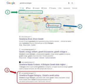 Sito in Prima Pagina su Google